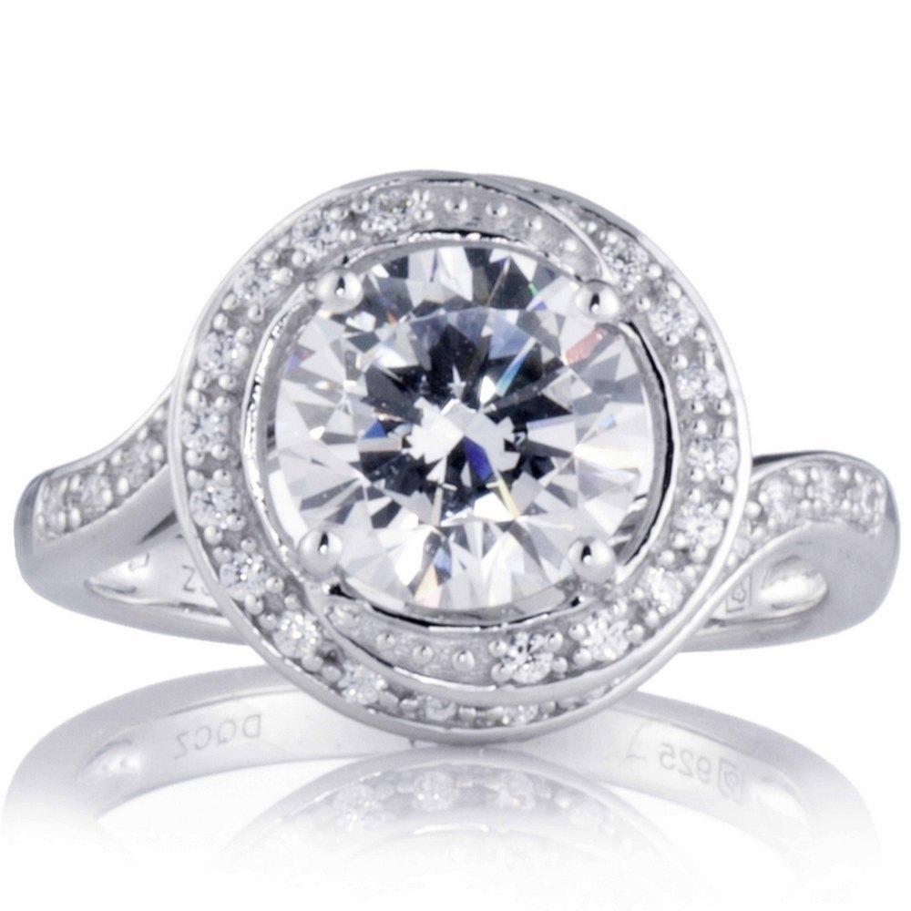 qvc 605347 diamonique 3ct tw swirl solitaire style ring