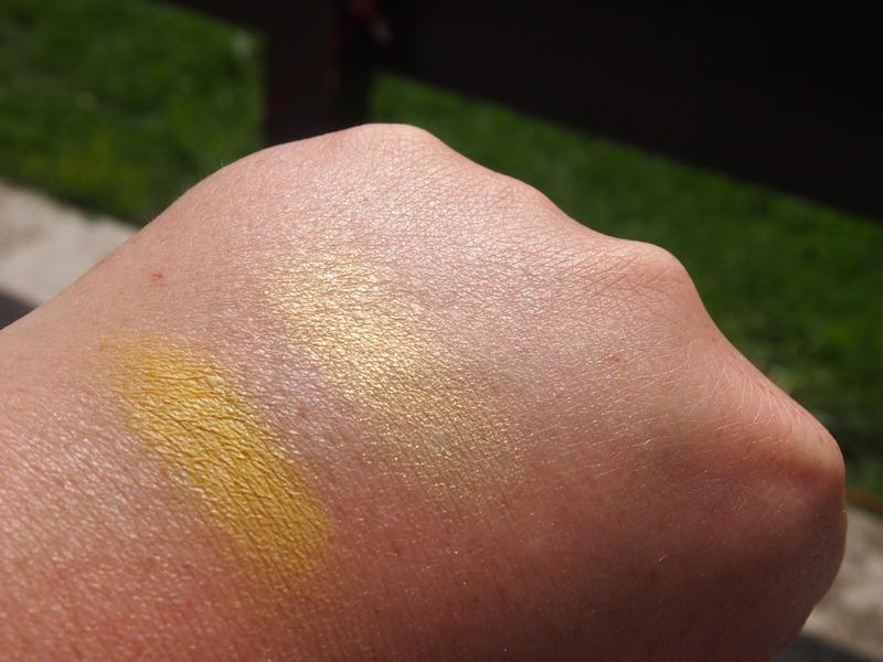 Models Own Neon Yellow and Kiko Water Eyeshadow Yellow