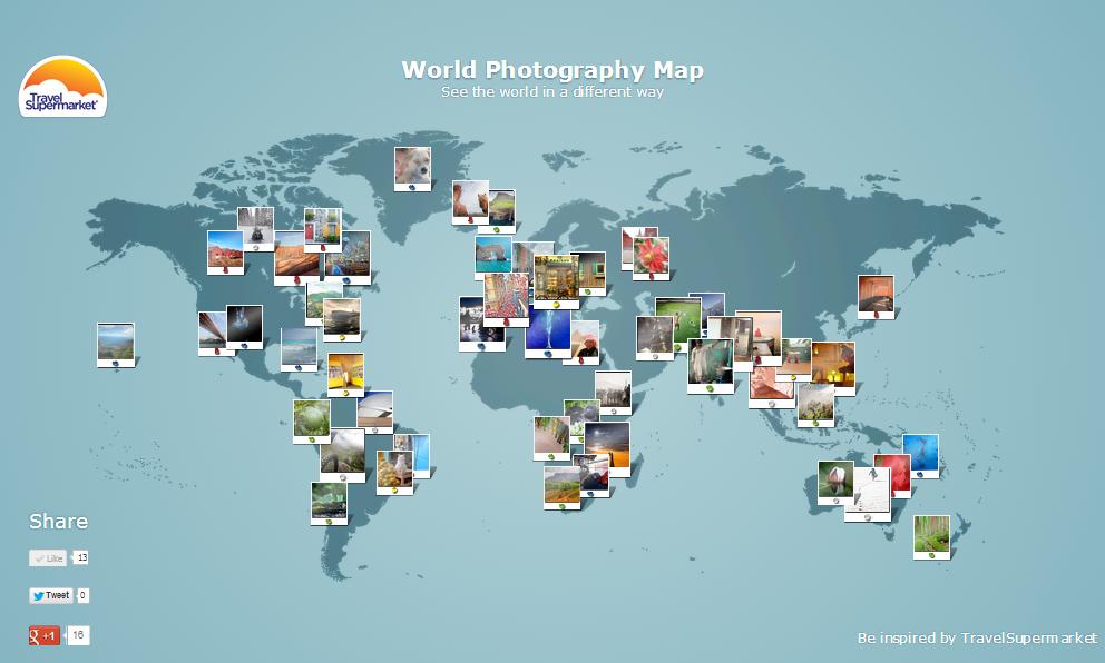 TravelSupermarket World Photography Map