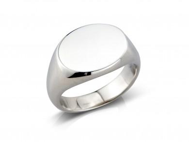 silver signet ring(medium)