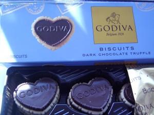 Godiva Biscuits - Dark Chocolate Truffles