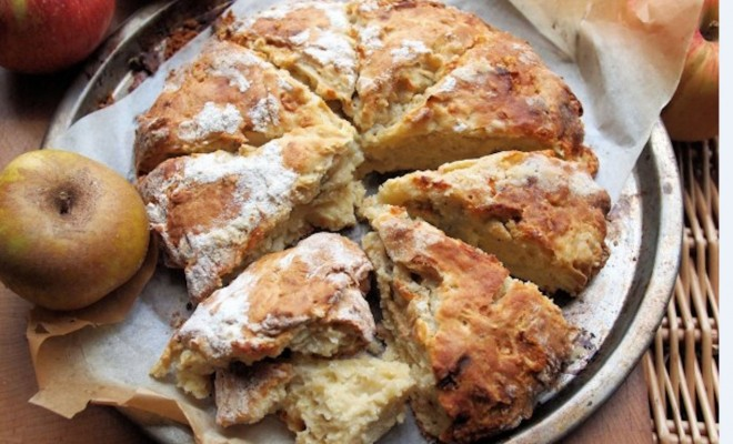 Apple and Cheese Scone Bread