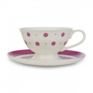 Laura Ashley Darcey Spot China Cup and Saucer RRP £12