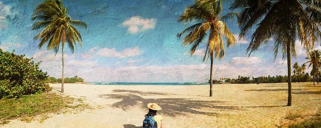 girl on sandy beach