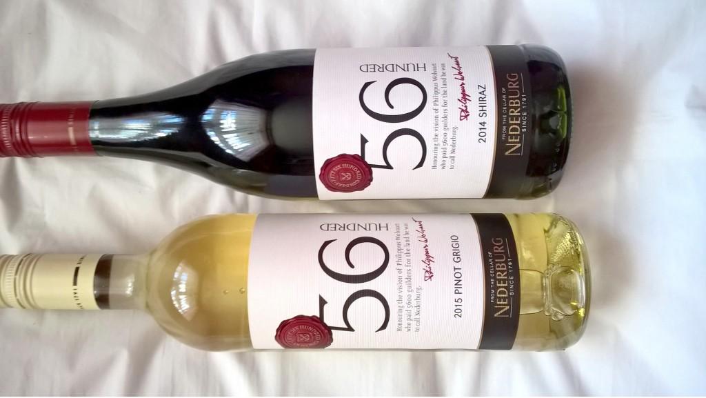 2015 Pinot Grigio and 2014 Shiraz