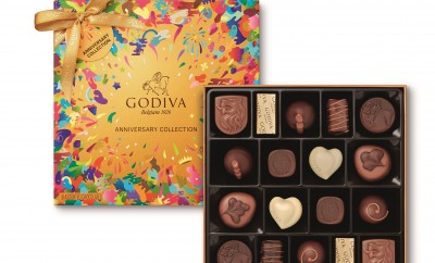 GODIVA 18 piece GOLD 90th