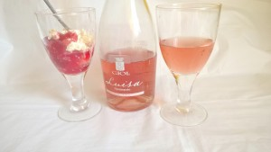 GIOL Luisa Merlot & strawberry trifle. Lovely!