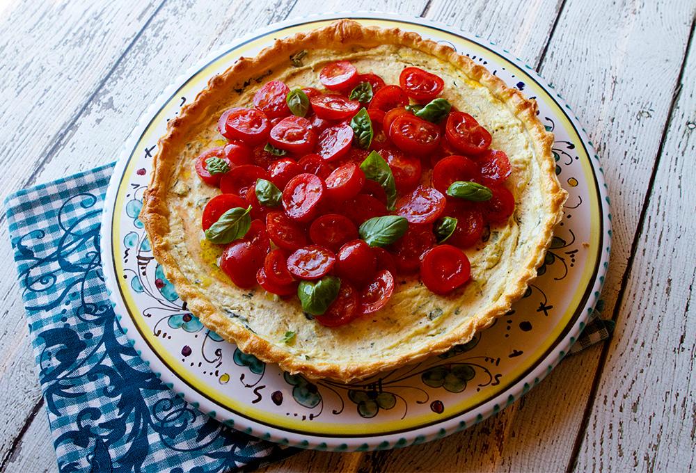 Ricotta, Goat's Cheese & Tomato Tart 1