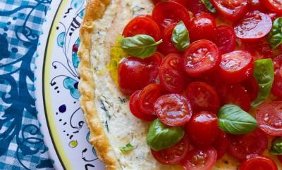 Ricotta, Goat's Cheese & Tomato Tart 3