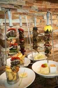 Mixed hanging skewers